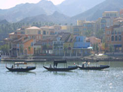 Gondolas at Lake Las Vegas