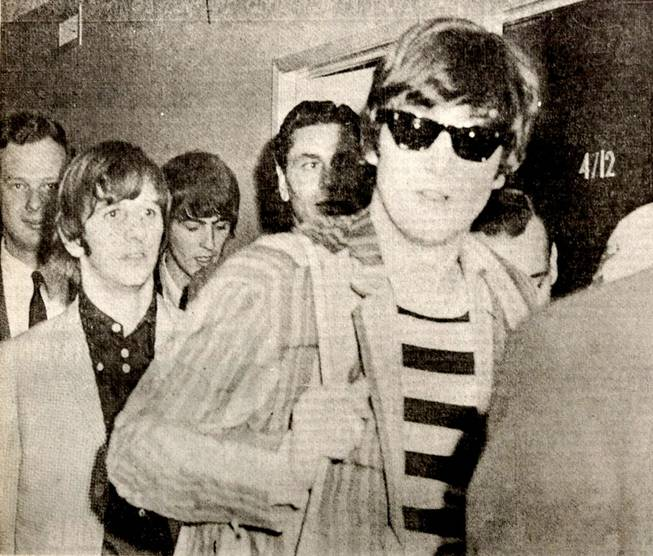 Beatles arrive in Las Vegas