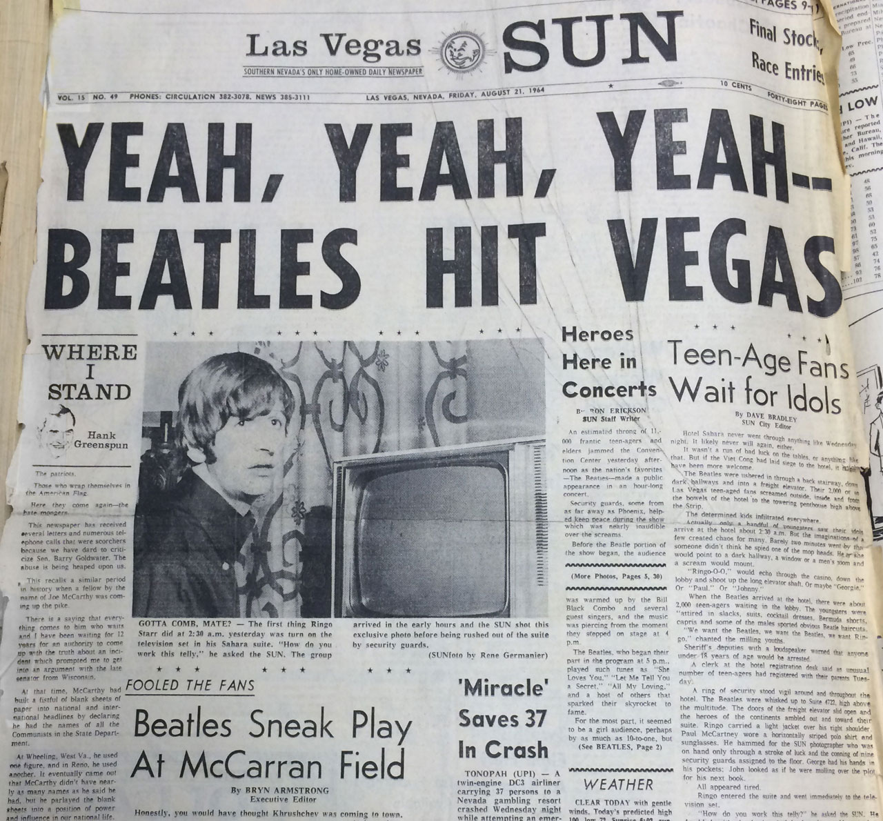 Las Vegas Sun Beatles