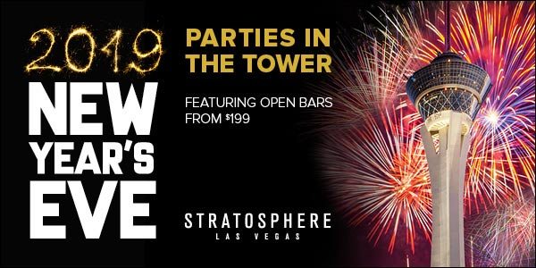 new years eve tower parties at the stratosphere casino hotel tower the breathtaking 360 view of the glittering vegas panorama from the top of the