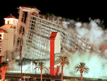Desert Inn Las Vegas implosion