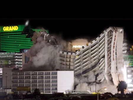 Boardwalk Las Vegas implosion