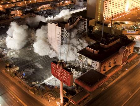 Bourbon Street Las Vegas implosion