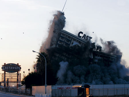 Castaways Las Vegas implosion