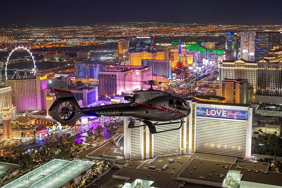 Neon & Nature - Las Vegas Strip Aerial View