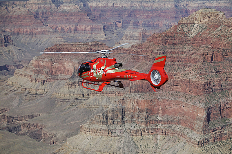 Ace of Adventure Air Tour with Limo - Helicopter View of Grand Canyon