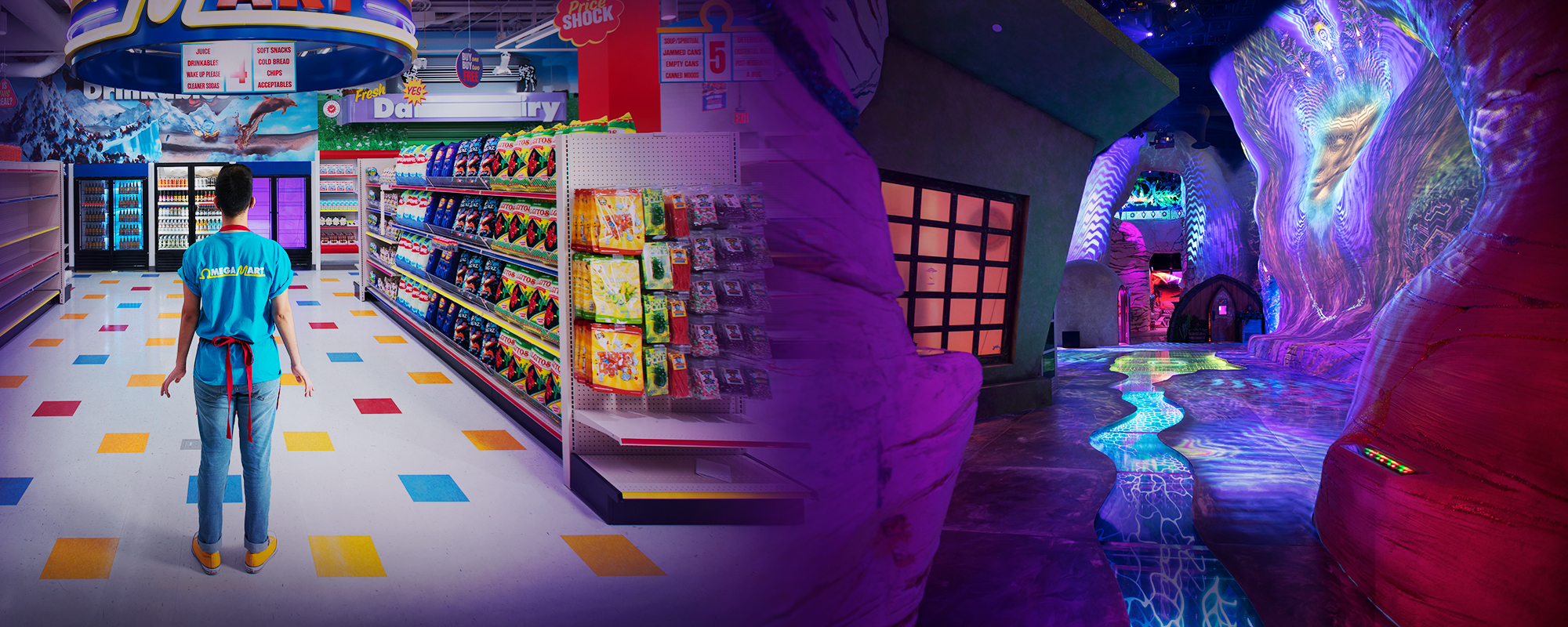 Meow Wolf's Omega Mart attraction