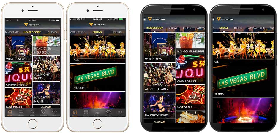 Vegas.com Mobile Apps