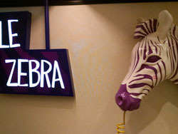 Purple Zebra in the LINQ