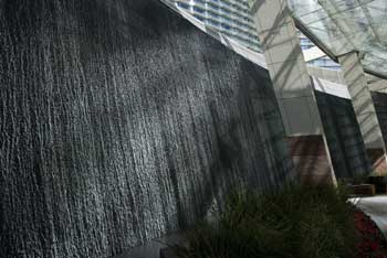 Water features at Aria