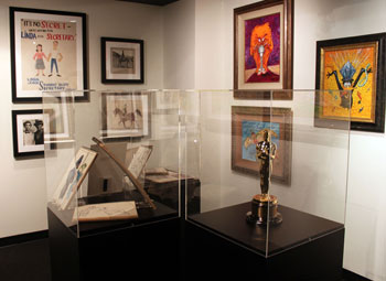 Academy Award and art display
