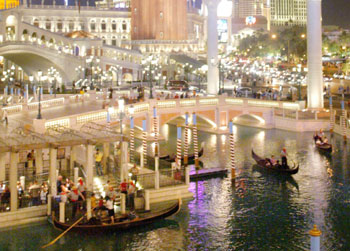 Outdoor Gondola Ride at the Venetian