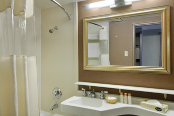Bathroom in the deluxe two double room