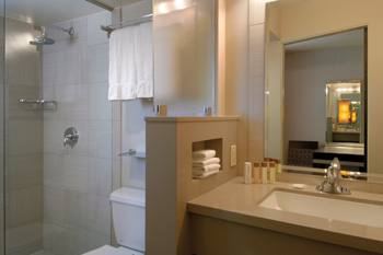 Bathroom in the deluxe king room