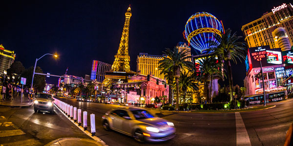 Cruise the entire Las Vegas Strip (or downtown Las Vegas) without having to worry about deal with the traffic.
