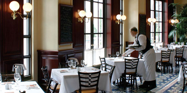 With Michelin Starred Chef Thomas Keller At The Helm Bouchon Serves French Bistro Clics From Morning Through Night In An Elegant Main Dining Room And A