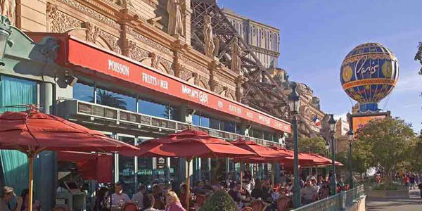 From The Highest Restaurant In Vegas To One That Literally Sits At Ground  Level Is Mon Ami Gabi At Paris Las Vegas. The Outdoor Patio ...
