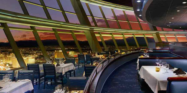 This Restaurant Is The Only One In Town Where You Can Enjoy A 360 Degree View Of Las Vegas From Angled Floor To Ceiling Windows More Than