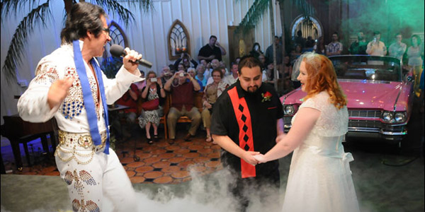 vegas leads the nation in marriages and a lot are done by elvis - Valentines Day Las Vegas