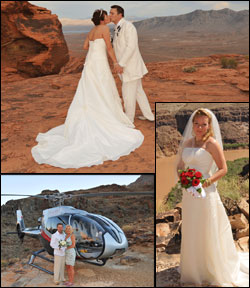 Helicopter weddings in Las Vegas, Grand Canyon and Red Rock